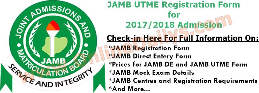Logo: JAMB UTME Registration Form for 2017/2018