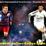 All Time Highest International Goal Scorers | Ronaldo Ahead Of Messi