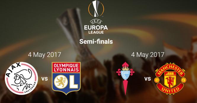 UEFA Europa League Semi-final Draw Fixtures