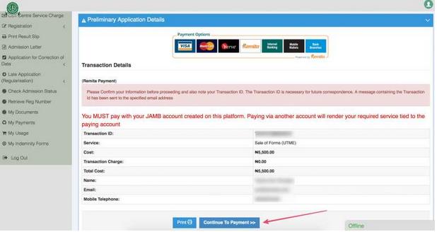 How To Make Jamb 2017 Payment Through Remita