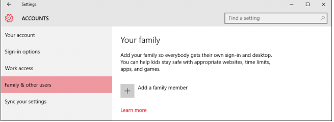 How To Set Parental Control In Windows 10