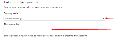 Image: Outlook Mail Registration form 2