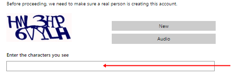 image: Outlook Mail Registration form 3