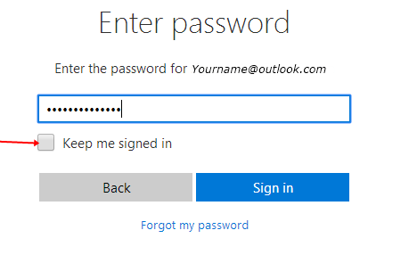 IMage: outlook login password
