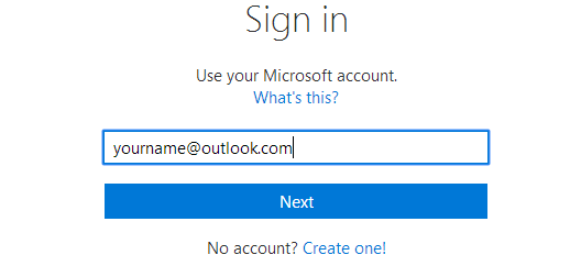 Image: outlook login