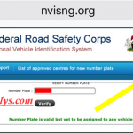 How To Verify FRSC Plate Number Online & Through SMS | FRSC Plate Number Verification Website – www.nvisng.org