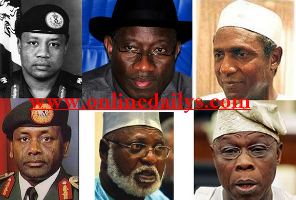 List Of All Nigerian Presidents, State Of Origin & Biography
