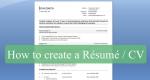 How To Write A Professional Résumé/CV – Free Résumé/CV Templates Downloads