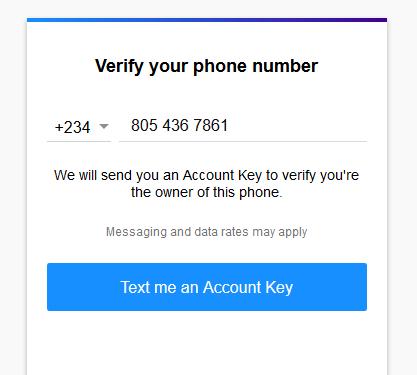 Image: Yahoo mail verify phone number