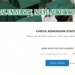 How To Check funai.edu.ng Admission List Portal – 2017-2018