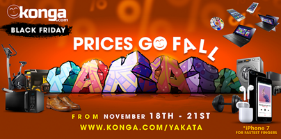 Konga Black Friday 2017 Deal And Dates - Konga Yakata Sales