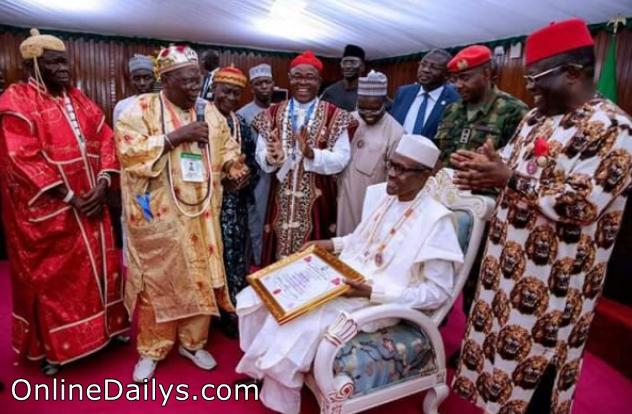 Image - President Buhari speech to Ebonyi people