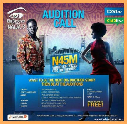 Big Brother Naija 2018 Audition banner