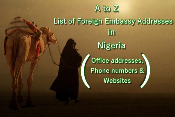 Foreign Embassy Addresses banner