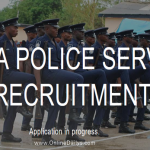 Apply Ghana Police Service Recruitment Form |  e-Recruitment Portal Open