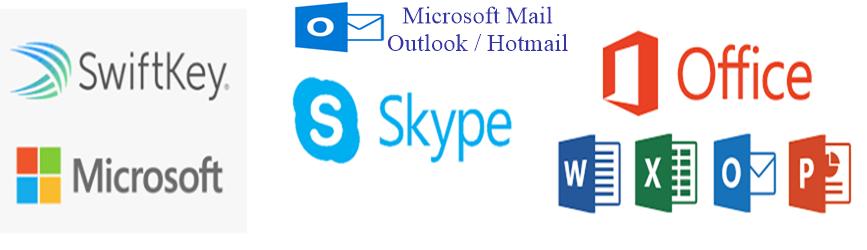 Microsoft Products Logos