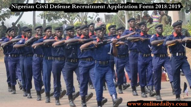 Nigerian Civil Defense Recruitment Application Form 2018/2019