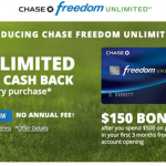 Chase Freedom Unlimited Credit Card Sign Up – Chase Credit Cards