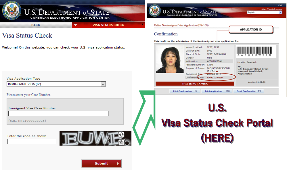 online nonimmigrant visa application ds 160 check status