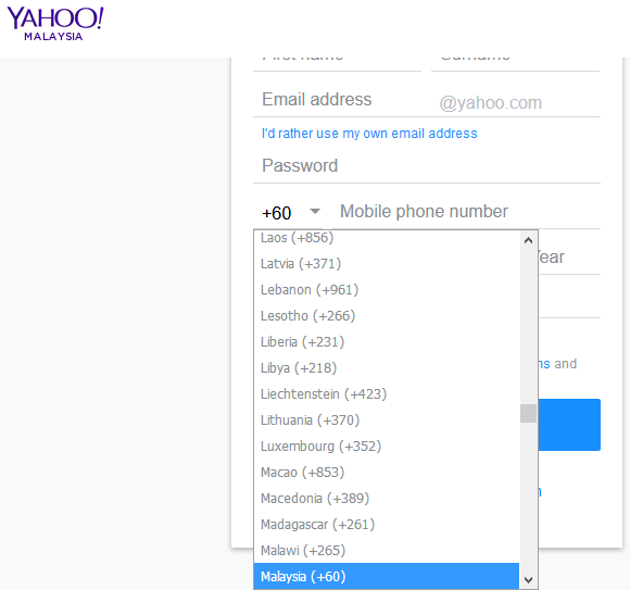 Yahoomail malaysia form2