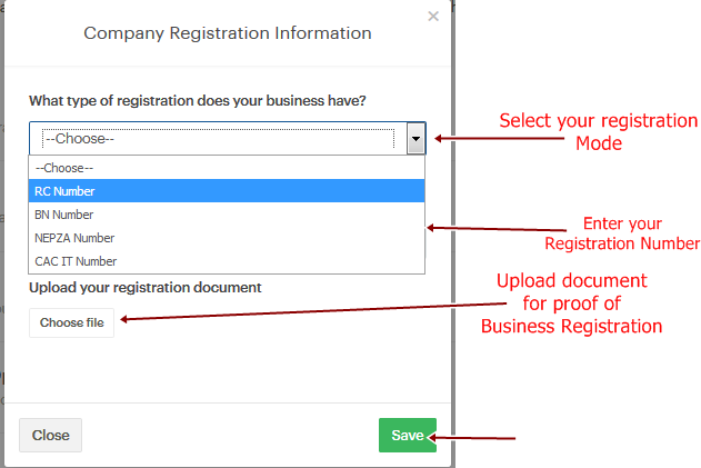 business registration requirememnts