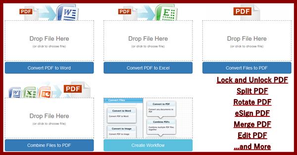 Online PDF to Word converter