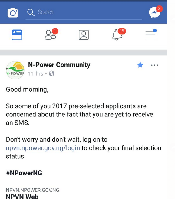 npower facebook page