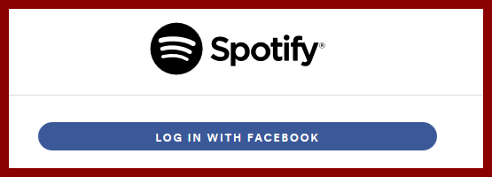Soptify login facebook