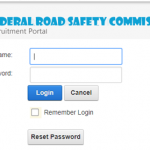 FRSC Recruitment Login Portal | How to Print FRSC Slip Online Dashboard