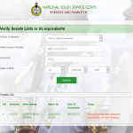 Guide for Checking NYSC Verify Senate List or its equivalents Online – Pictures