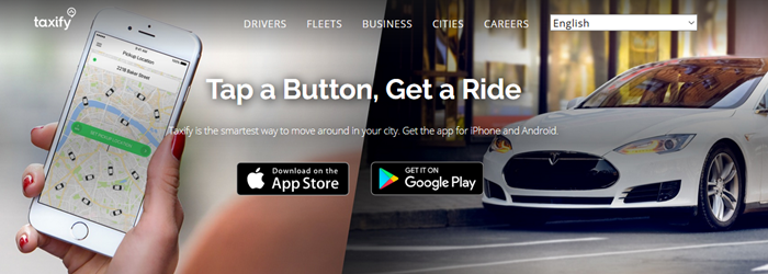 Taxify website