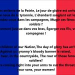 France National Anthem Video And Lyrics – La Marseillaise English And  French Version
