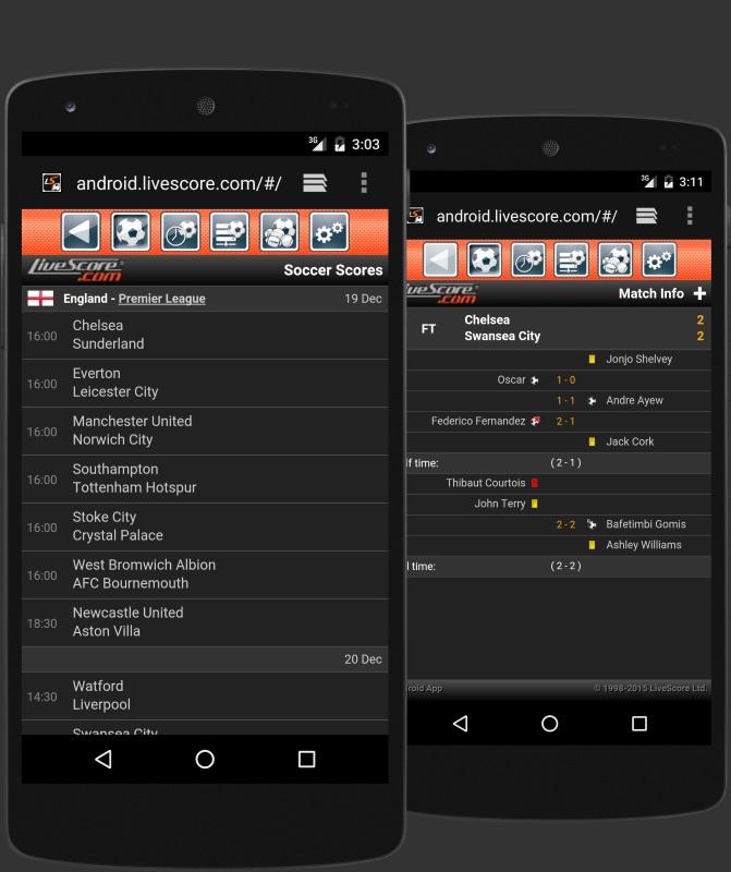 Livescore Mobil