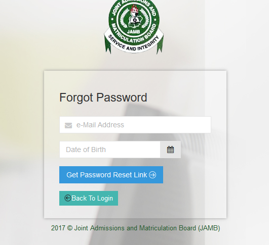 Image, Jamb login forget password