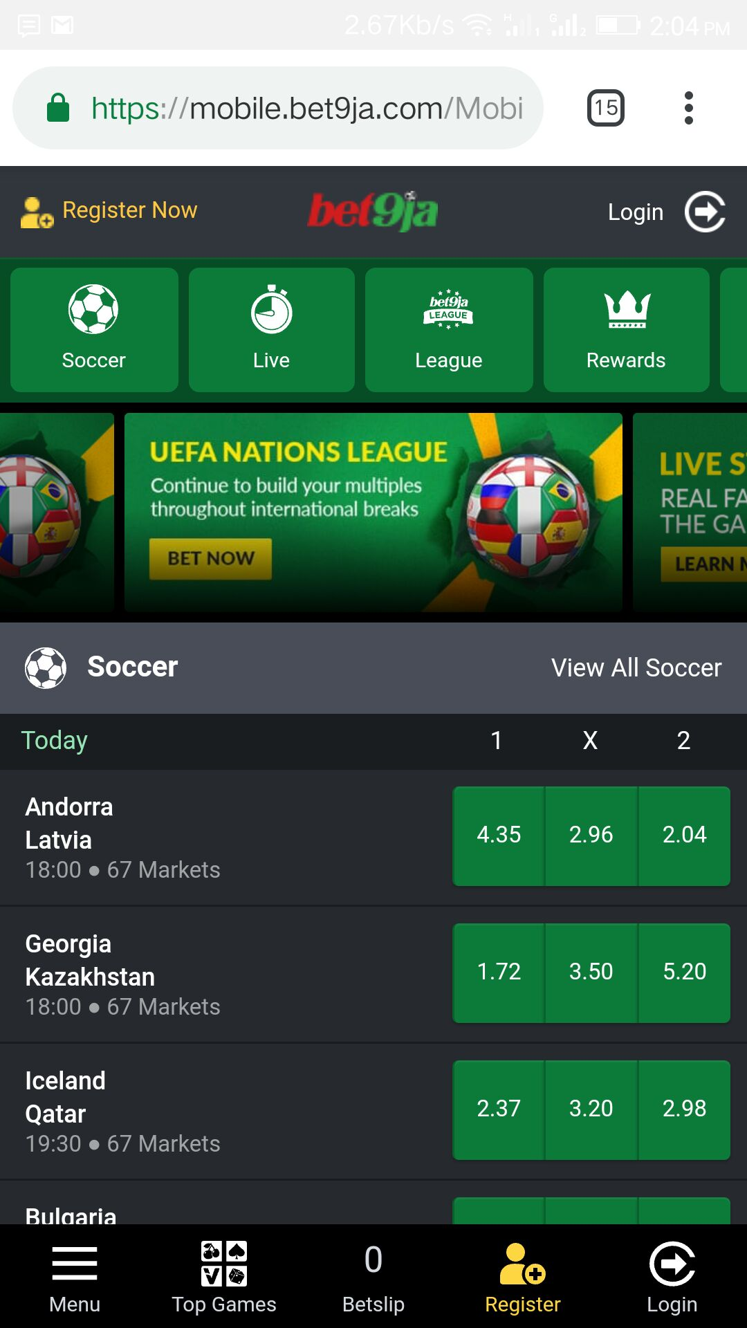 Bet9ja Old Mobile App Download | Mobile Application