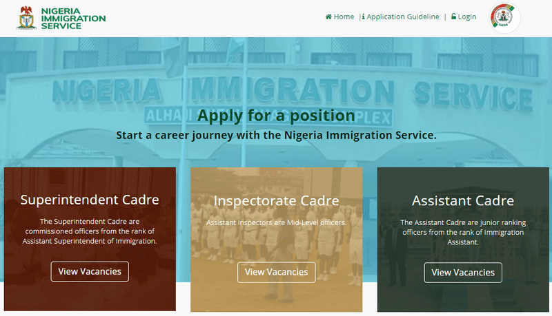 How to Apply for NIS Job (Portal – www.immigrationrecruitment.org.ng)