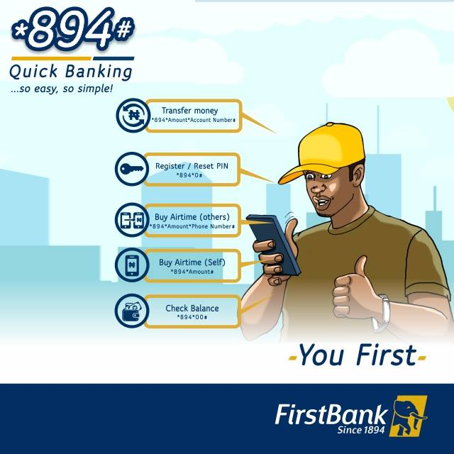 How to Create First Bank Nigeria 5-digit PIN   FirstBank *894# Enrollment steps