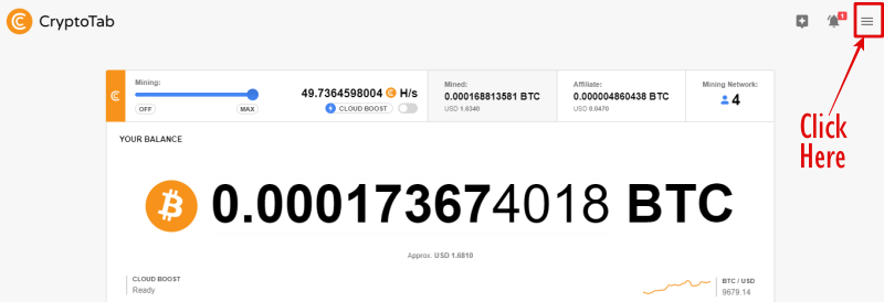 How to Withdraw from CryptoTab BTC Mining Balance