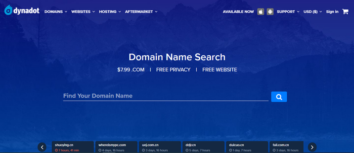 dynadot.com Sign Up for a New Account | dynadot Login Account