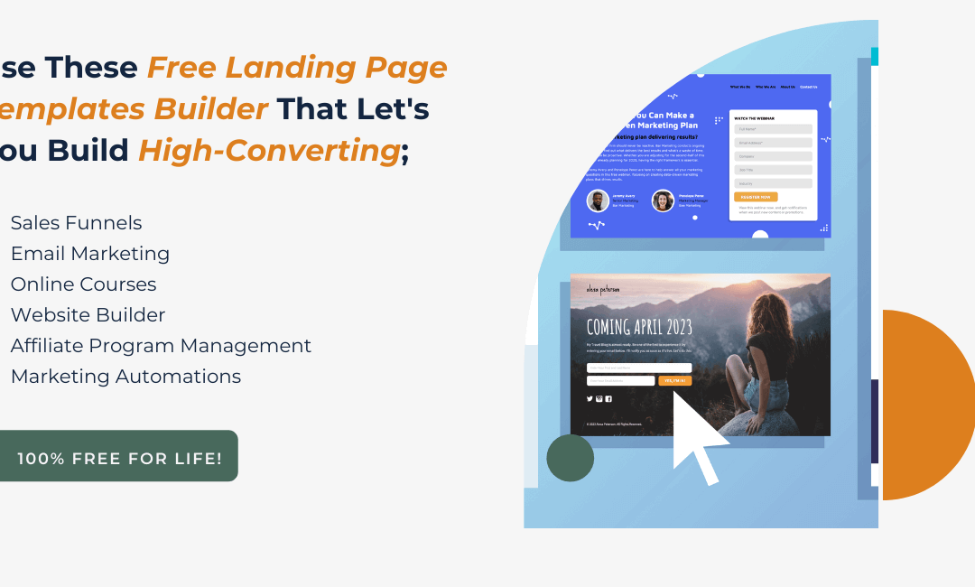 Top Free Landing Page Templates Builder Companies (Use Free for-life)